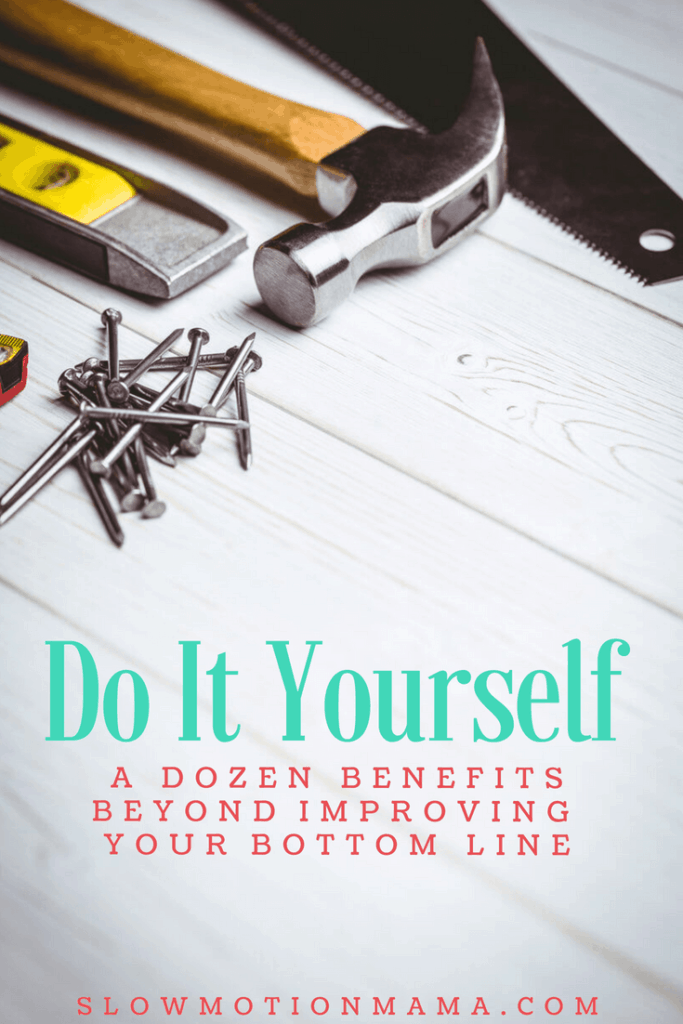 Discover 12 unexpected benefits of DIY and how you can begin experiencing them today!  From painting to home decor, crafts, or furniture projects, gain the satisfaction of learning how to do it yourself! #DIY #doityourself #frugalliving #benefitsofDIY #homeprojects
