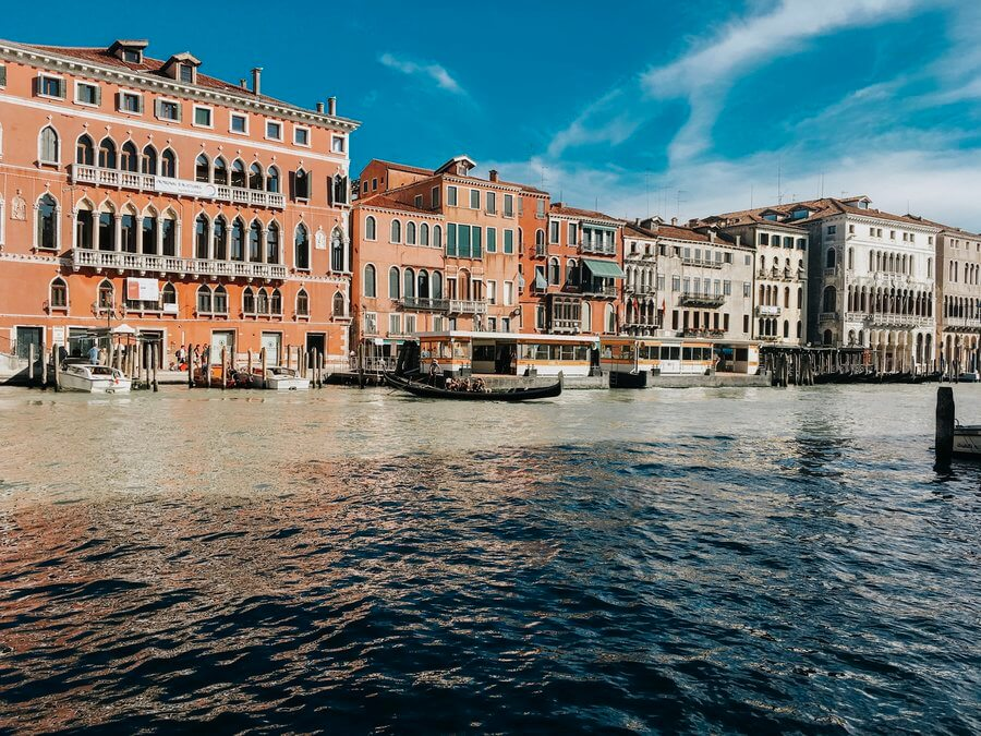 experiencing novelty on the Grand Canal in Venice, Italy