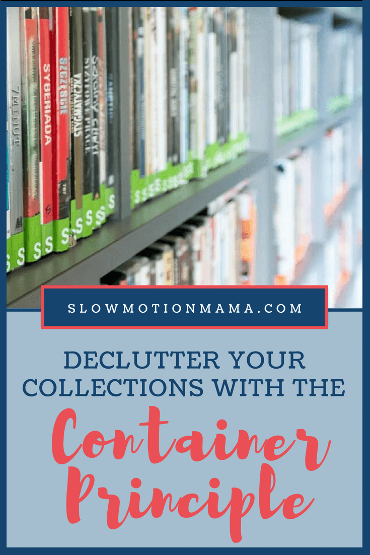 Declutter and organize your home collections with this easy strategy! It works for any collections in your life- papers, clothes, toys, or sentimental treasures. Learn how this simple tip can fast forward your minimalist journey! #declutter #organize #minimalism #simplify #minimalistfamily