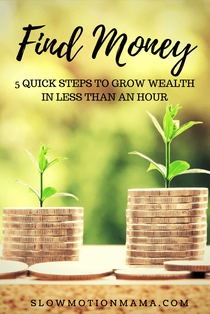 Find money to invest without having to come up with extra cash! Spend an hour following this frugal living strategy to find investment money and build wealth without having to work harder than you already do! #findmoney #invest #frugalliving #extracash #savemoney #buildwealth