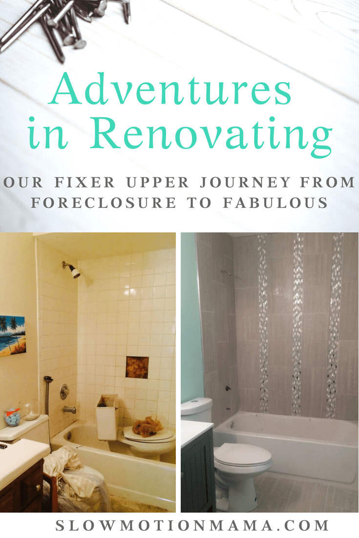 Follow our journey as we renovate our foreclosure! Learn quick and easy ways to remodel your renovation property on a budget. From floors to flowers, bathrooms to the kitchen, we are tackling it all and documenting the journey for you! See the dramatic before and afters and be inspired to transform your own home! #DIY #homeimprovement #renovation #foreclosure #beforeandafter #rehabproperty #budgetDIY