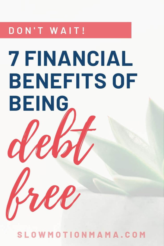 Learn how becoming debt free can change your finances- and your life! Learn how frugal living can build your investments, increase your fun money, create more freedom, and help you retire early! #debtfree #financialfreedom #frugal