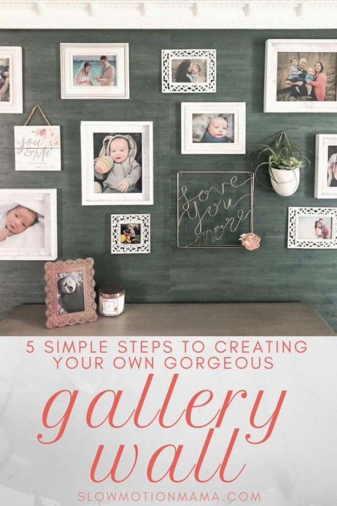 Check out this step-by-step guide to creating your own photo gallery wall. Whether you want to create an eclectic, salon style or a grid layout with simple, symmetrical frames, we'll show you how to get the look you're after- without putting a bunch of holes in your wall! Get ideas for DIY design and learn how to create a template for hanging your own pictures. Check out the photo gallery wall we created for our minimalist bedroom and get inspired to create your own gallery wall today! #gallerywall #decor #photowall