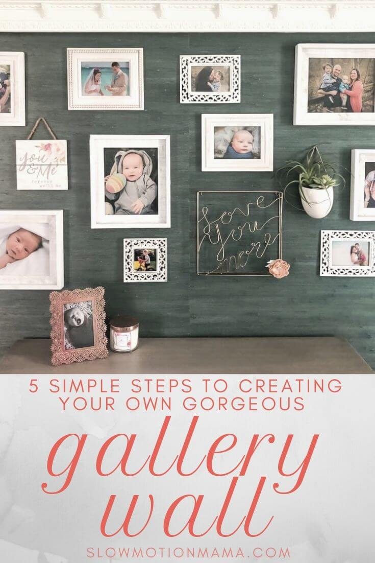 Check out this step-by-step guide to creating your own photo gallery wall. Whether you want to create an eclectic, salon style or a grid layout with simple, symmetrical frames, we'll show you how to get the look you're after- without putting a bunch of holes in your wall! Get ideas for DIY design and learn how to create a template. Check out the photo gallery wall for our minimalist bedroom & be inspired to create your own gallery wall today! #gallerywall #DIY