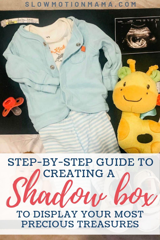 how to create a memory shadow box