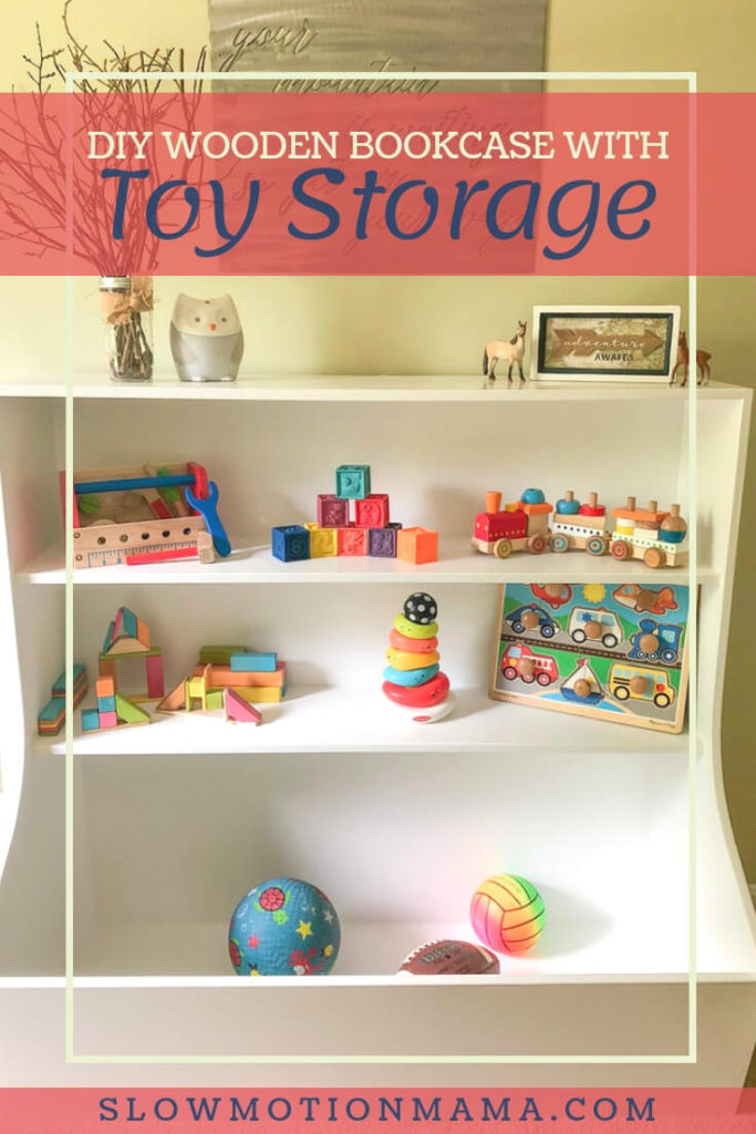 Create your own toy storage unit. Learn how to build this wooden toy box with bookshelves and a large toy cubby. It's perfect for a child's bedroom or playroom. This DIY storage bookcase can be created in a weekend with our detailed tutorial. #toybox #bookcase #DIY