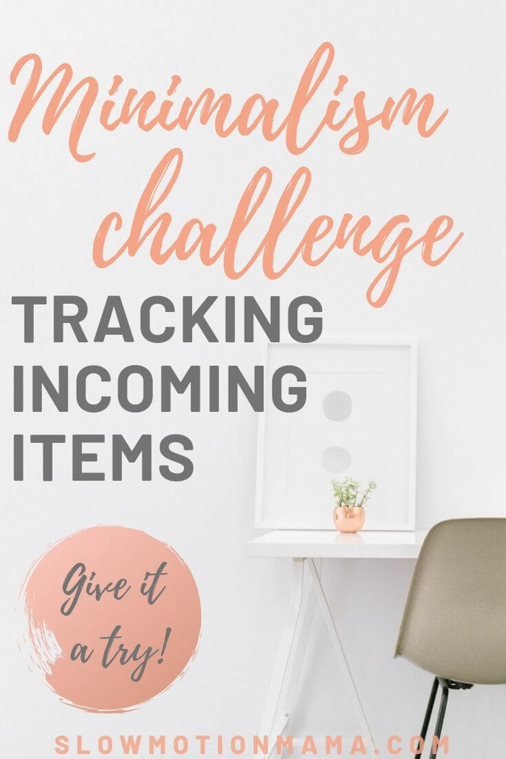 If you're looking for simple living inspiration, check out this minimalism challenge for tracking items. If you're constantly working to declutter, but not making good progress, this challenge is for you! Become intentional about what enters your house. Once you get some good ideas for how clutter is coming in, you become better equipped to stop the flow into your home. Track for a week, 30 days, or a year & find the motivation to minimize what you buy! #minimalism #simplify