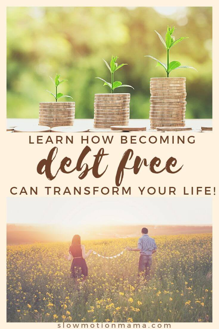 """There are so many benefits to getting out of debt! If you've ever wondered, """"Why be debt free?"""", check out this list of ways a debt-free lifestyle can transform your relationships and your outlook on life. Get some inspiration, create a vision board, and set your goals to become debt-free. Then, enjoy these benefits of living debt-free! #debtfree #getoutofdebt #debtfreebenefits"""