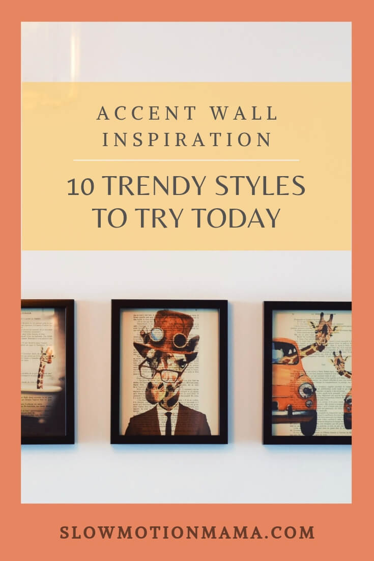 An accent wall is a great way to add drama to any room in your home. From wallpaper to wood, painted walls to brick, your imagination is the limit! If your idea of a focal wall is painting a contrasting color or hanging some farmhouse faux shiplap, you might be surprised by the decor options out there. Spruce up your living room, bedroom, kids' space, or bathroom with these DIY accent wall ideas! #accentwall #DIY #decor