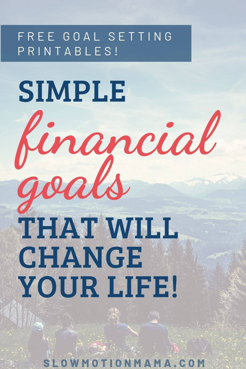 Want to set some financial goals, but don't know where to start? Check out this example list of financial goals. Whether you want to save money, become debt free, or pay cash for a car or home, our free, simple financial goals printables will help you set and track personal finance goals that you'll actually accomplish! #financialgoals #freeprintable #moneymanagement