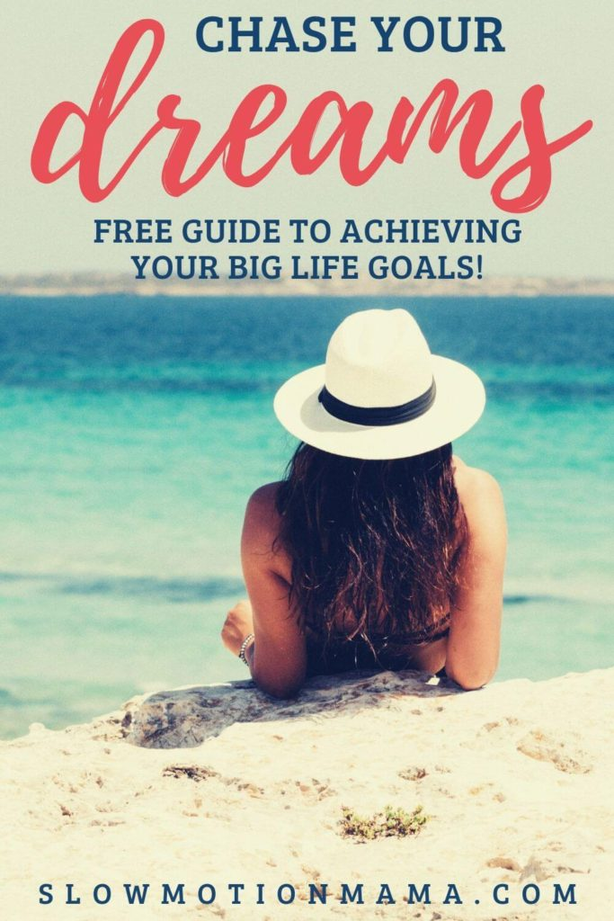 how to achieve big goals printable