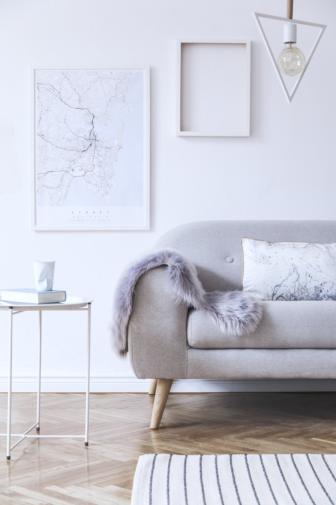 minimalist living room couch