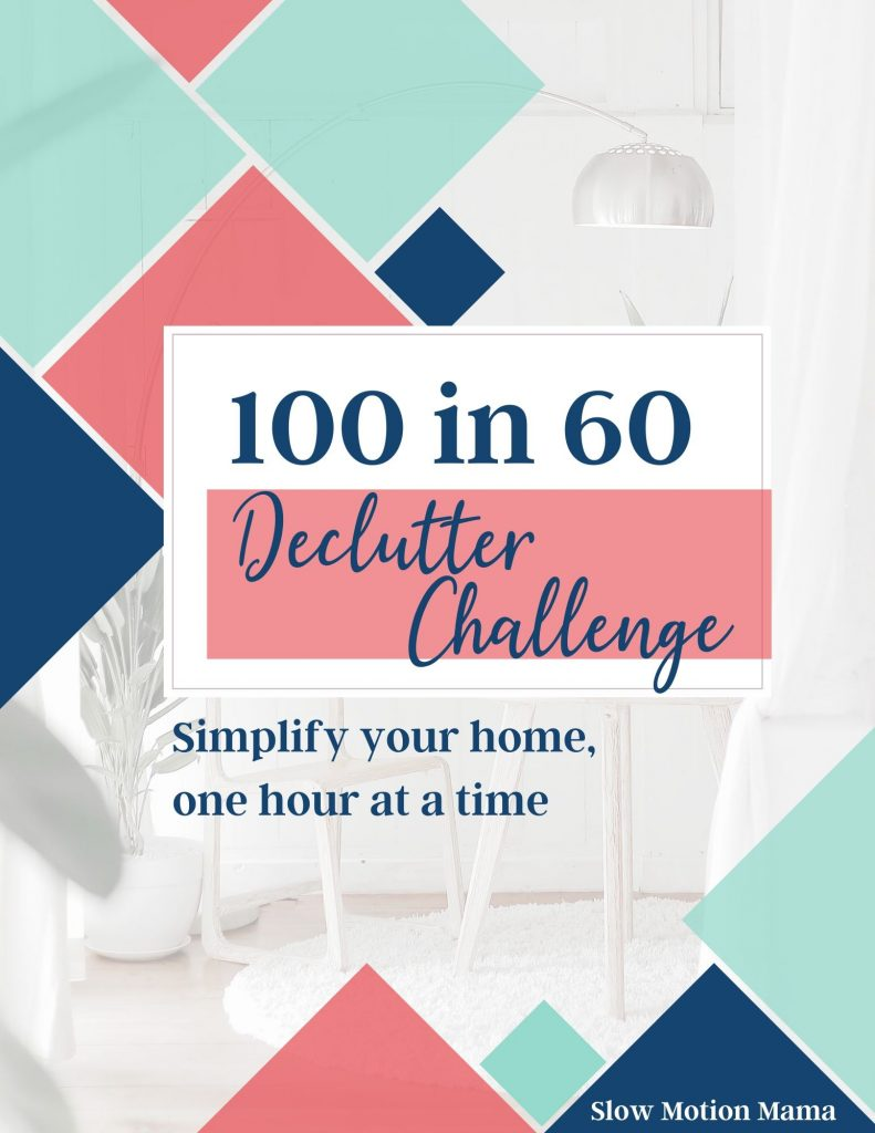 Cover for the 100 in 60 declutter challenge